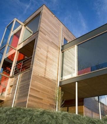 dřevěná fasáda cedr