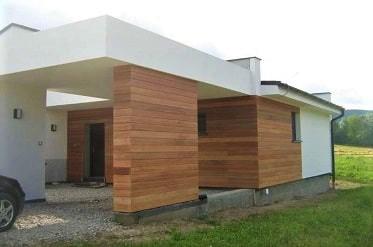 dřevené fasádní obklady Meranti
