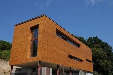 dřevené fasádní obklady Okoume