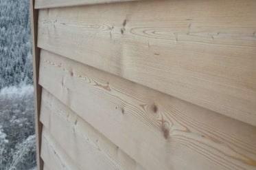 dřevené fasádní obklady Sibiřský modřín