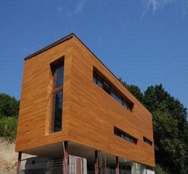 Dřevěná fasáda Okoume